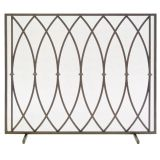 Pilgrim 18322 Single Panel Addison Screen - Burnished Bronze