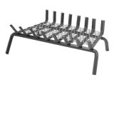 """8 Bars Ember Series Fireplace Grate w/6"""" Clearance and Center Leg"""