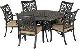 Venice 6-Piece Dining Arm Chairs Set -Desert Bronze