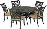 Venice 6-Piece Armless Dining Set -Desert Bronze