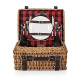 Picnic Time 208-40-406 Champion Basket in Red/Black Buffalo Check