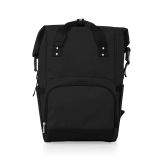 Picnic Time 616-00-179 On The Go Roll-Top Cooler Backpack in Black