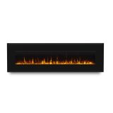"Corretto 72"" Wall-Hung Electric Fireplace - Black"