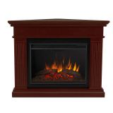 Kennedy Grand Corner Electric Fireplace - Dark Walnut