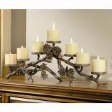 SPI 33015 Pinecone Mantlepiece Candleholder