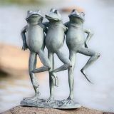 SPI 33430 Dancing Frog Trio Sculpture