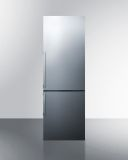 Summit FFBF247SSIM Frost-Free Bottom Freezer Refrigerator