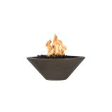 "Cazo 31"" Round Concrete GFRC NG Fire Bowl in Chocolate - Match Lit"