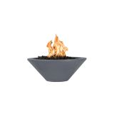 "Cazo 31"" Round Concrete GFRC LP Fire Bowl in Gray - Match Lit"