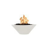 "Cazo 31"" Round Concrete GFRC LP Fire Bowl in Limestone - Match Lit"