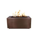 """Pismo 84"""" x 24"""" Stainless Steel Fire Pit with Match Lit Ignition - NG"""