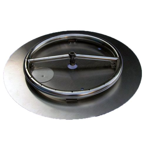 "18"" SS Fire Pit Ring Burner Kit with Pan"
