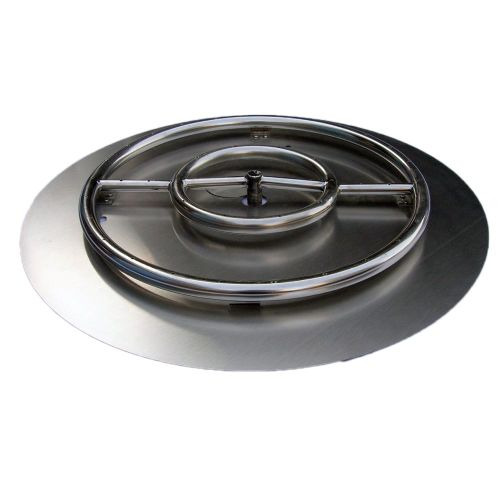 """22"""" SS Fire Pit Ring Burner Kit with Pan"""