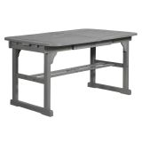 Walker Edison OWTEXGW Extendable Outdoor Dining Table - Grey Wash
