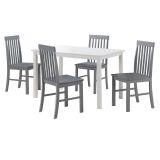 Walker Edison TW485PCWG 5-Piece Modern Dining Set - White/Grey