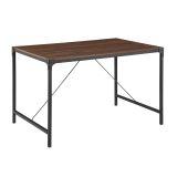 "Walker Edison TW48AIDW 48"" Industrial Wood Dining Table - Dark Walnut"