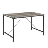 "Walker Edison TW48AIGW 48"" Industrial Wood Dining Table - Grey Wash"