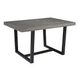 """Walker Edison 52"""" Distressed Solid Wood Dining Table - Grey"""