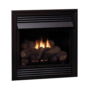 Vail Vent-Free NG Premium 32,000 BTU Fireplace with LS24RS Log Set