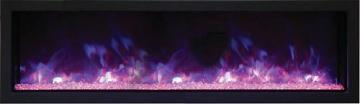 "Remii Extra Slim Indoor/Outdoor Built-in Electric Fireplace - 55"""