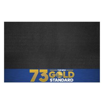 """Fanmats 20563 NBA - Warriors 73 Grill Mat 26""""x42"""""""