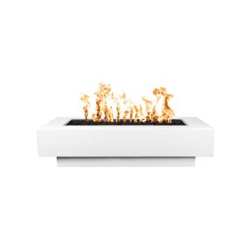 "Coronado 60"" x 28"" White Powdercoated Steel Match Lit Fire Pit - NG"