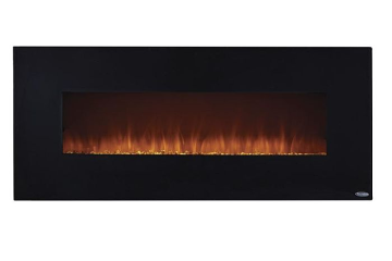 "Onyx 50"" Wide Wall Mounted Electric Fireplace - Black"