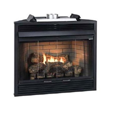 """Keystone Series 36"""" Deluxe B-Vent IP Louver Fireplace - NG"""