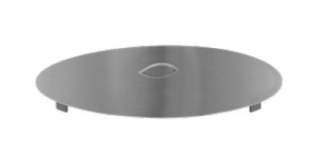 """Firegear LID-29R2 32"""" Round Flat Stainless Steel Lid - Brushed Finish"""