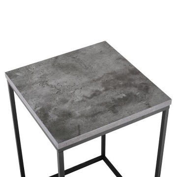 Walker Edison AF16LWSTDC Modern Side Table - Dark Concrete
