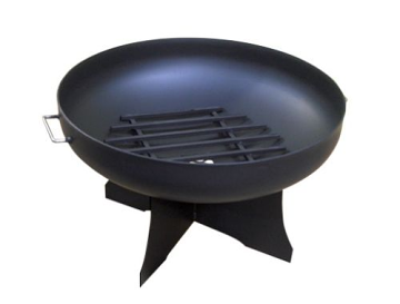 """36"""" Round Fire Pit with Standard X Base, Hybrid Pivot Screen and Grate"""