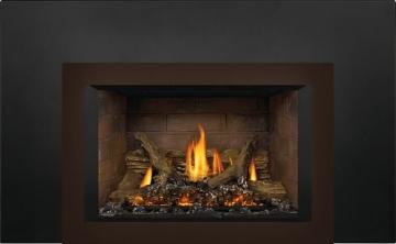 Oakville X3 Gas Fireplace Insert with Newport Standard Panels