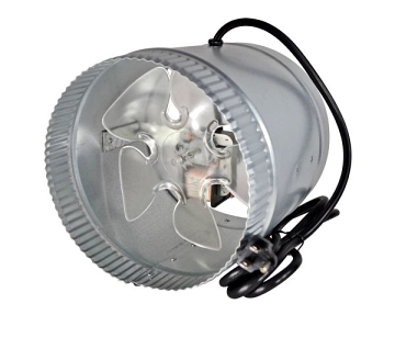 Suncourt Inductor 8'' Corded In-Line Duct Booster Fan