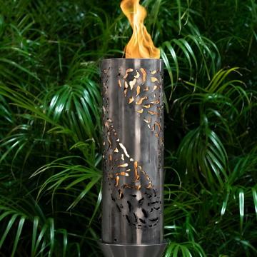 Tiki Stainless Steel Top Fire Torch #25 w/Original Top Torch Base - LP
