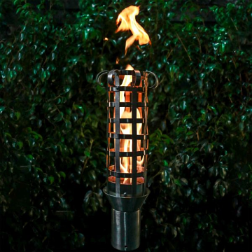 Box Weave Stainless Steel Top Fire Torch #16 w/Top-Lite Torch Base, NG