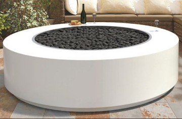 60'' x 18'' Unity Powder Coat Steel Electronic Ignition Fire Pit - LP