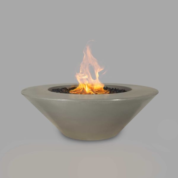 The Outdoor Plus 60'' Cazo Concrete Match Lit Fire Pit in Ash - NG