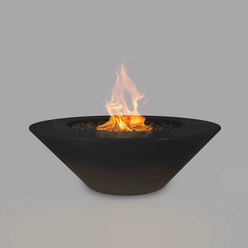 The Outdoor Plus 60'' Cazo Concrete Match Lit Fire Pit in Black - NG