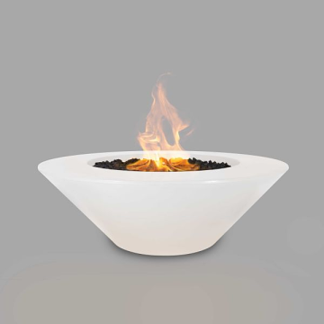 The Outdoor Plus 60'' Cazo Concrete Match Lit Fire Pit in Limestone, NG
