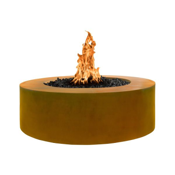 60'' x 24'' Unity Hammered Copper Match Lit Fire Pit - NG