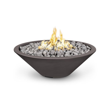 60'' Cazo Electronic Ignition Fire Pit in Rustic Gray - LP (Narrow Lip)
