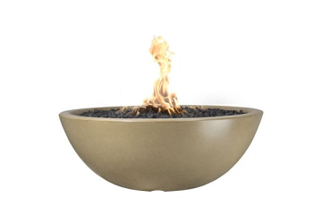 60'' Sedona Concrete Electronic Ignition Fire Pit in Brown - LP