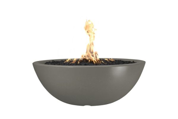 60'' Sedona Concrete Electronic Ignition Fire Pit in Ash - NG
