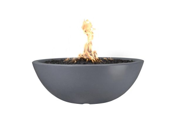 60'' Sedona Concrete Electronic Ignition Fire Pit in Gray - NG