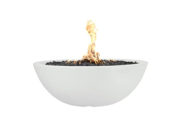 60'' Sedona Concrete Electronic Ignition Fire Pit in Limestone - NG