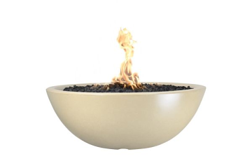 60'' Sedona Concrete Electronic Ignition Fire Pit in Vanilla - NG