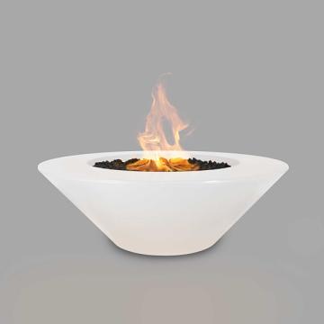 60'' Cazo Concrete Elec. Ignition Fire Pit in Limestone - LP