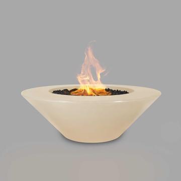 60'' Cazo Concrete Elec. Ignition Fire Pit in Vanilla - LP