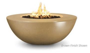 60'' Sedona Wide Lip Concrete Elec. Ignition Fire Pit in Vanilla - LP