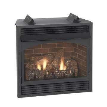 """Vail 36"""" Intermittent Vent-Free Premium Fireplace with Blower - NG"""
